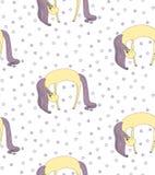 Sleeping unicorn pattern Stock Photos