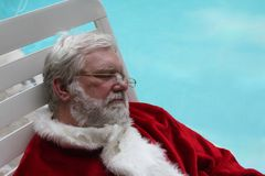 Sleeping Vacationing Santa 2 Royalty Free Stock Image