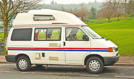 Sleeping van with elevated roof Royalty Free Stock Photos