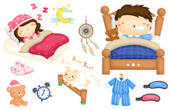 Sleeping vector Set Royalty Free Stock Photography