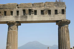 Sleeping Vesuvius. Pompeii, Italy Stock Photography