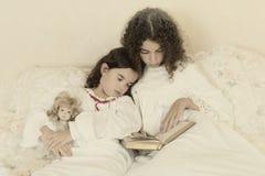 Sleeping vintage girl Stock Photo