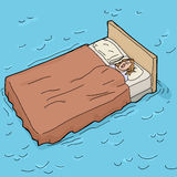Sleeping on a Waterbed Royalty Free Stock Images