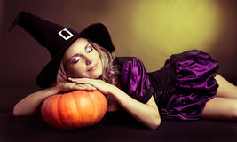 Sleeping witch Royalty Free Stock Images