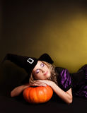 Sleeping witch Stock Images