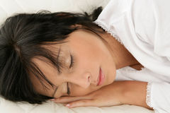 Sleeping woman Stock Image