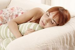 Sleeping woman Stock Photography