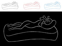 Sleeping Woman. An image of a sleeping woman - simple style Stock Photos