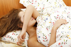Sleeping woman Stock Photo