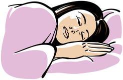 Sleeping Woman. An illustration of a sleeping woman Stock Photo