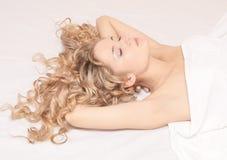 Sleeping woman Stock Photo