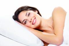 Sleeping woman. Royalty Free Stock Photo