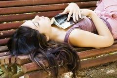 Sleeping woman Stock Photos