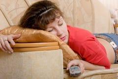 Sleeping woman Royalty Free Stock Photos