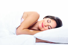 Sleeping woman. Stock Photos