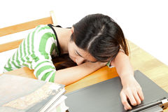 Sleeping woman with book Stock Photography
