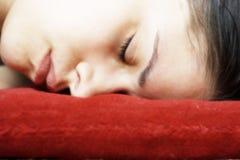 Sleeping woman face down Stock Photos