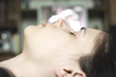 Sleeping woman face up Royalty Free Stock Photo