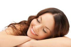 Sleeping woman at home Royalty Free Stock Photography