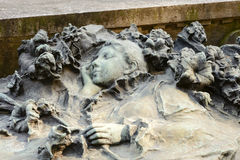 Sleeping woman sculpture at Monumental Cemetery, Milan Stock Photos