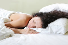 Sleeping woman Stock Photos