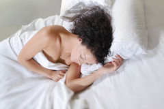 Sleeping woman Stock Images