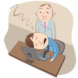 Sleeping at work Royalty Free Stock Images