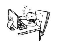 Sleeping At Work Stock Photography