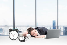 Sleeping at work place Royalty Free Stock Images