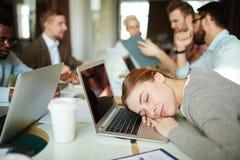 Sleeping at work Royalty Free Stock Photo