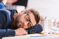 Sleeping at work. Royalty Free Stock Photo