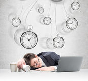 Sleeping at work Royalty Free Stock Photography