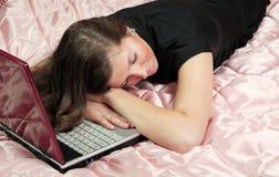 Sleeping While Working Stock Photos