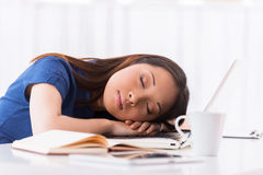 Sleeping at working place. Royalty Free Stock Photo