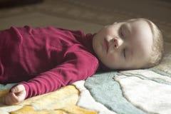 Sleeping 2-year-old child royalty free stock photos
