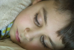 Sleeping young boy Royalty Free Stock Image