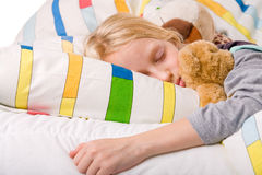 Sleeping young child Stock Image