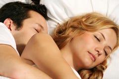 Sleeping young couple Royalty Free Stock Photo