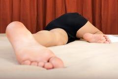 A sleeping young girl Royalty Free Stock Photos