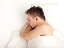 Sleeping young man Stock Photo