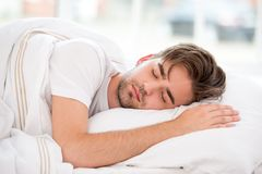 Sleeping young man Royalty Free Stock Images