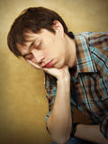 Sleeping young man Stock Photography