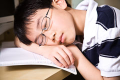 Sleeping young student Stock Photography
