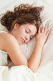 Sleeping young woman Royalty Free Stock Image