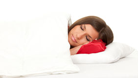 Sleeping young woman Royalty Free Stock Images
