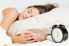 Sleeping young woman Stock Photography