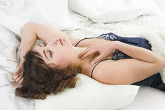 Sleeping young woman Royalty Free Stock Image