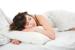 Sleeping young woman Royalty Free Stock Photo