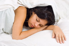 Sleeping young woman Royalty Free Stock Photography