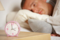 Sleepless man Stock Photography